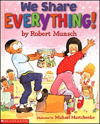 Book review We Share Everything by Robert Munsch