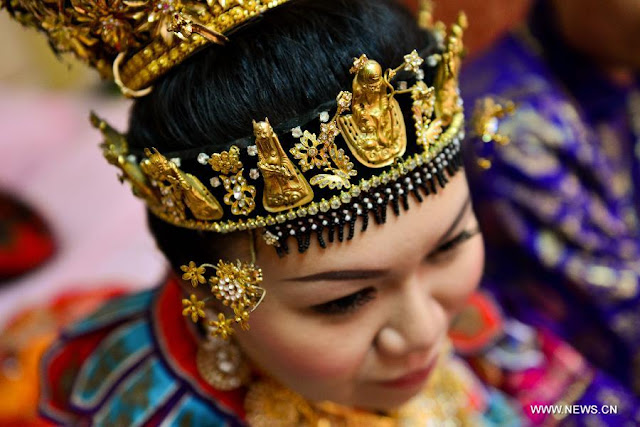 Peranakan bride headdress