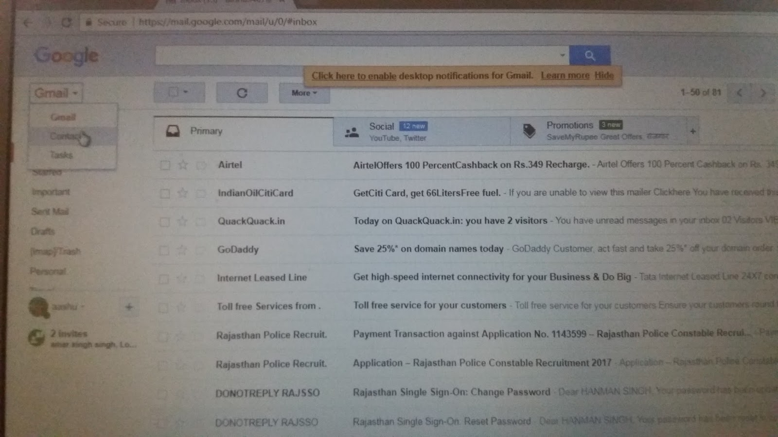 how to delete recovery email from gmail