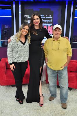 Milene Domingues, Luciana Gimenez e Silvio Luiz - Crédito: Divulgação/RedeTV!