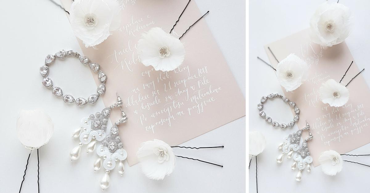 Komplet biżuterii ślubnej PiLLow Design.