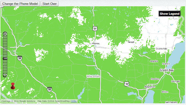 TracFone CDMA (Verizon) Map