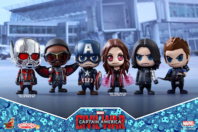 Captain America: Civil War Cosbaby Vinyl Figure Series by Hot Toys – Team Captain America Set