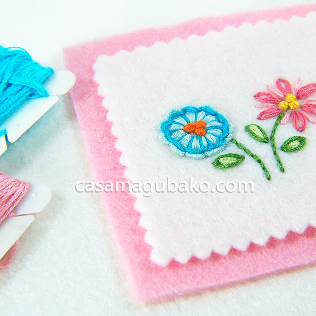 Hand-Stitched Flowers by casamagubako.com