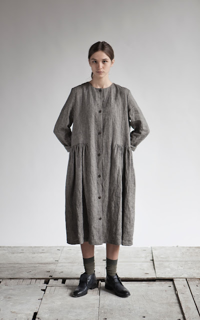muku A/W 2012 Dresses with pleats and buttons