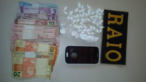 preso em flagrante com cocaína