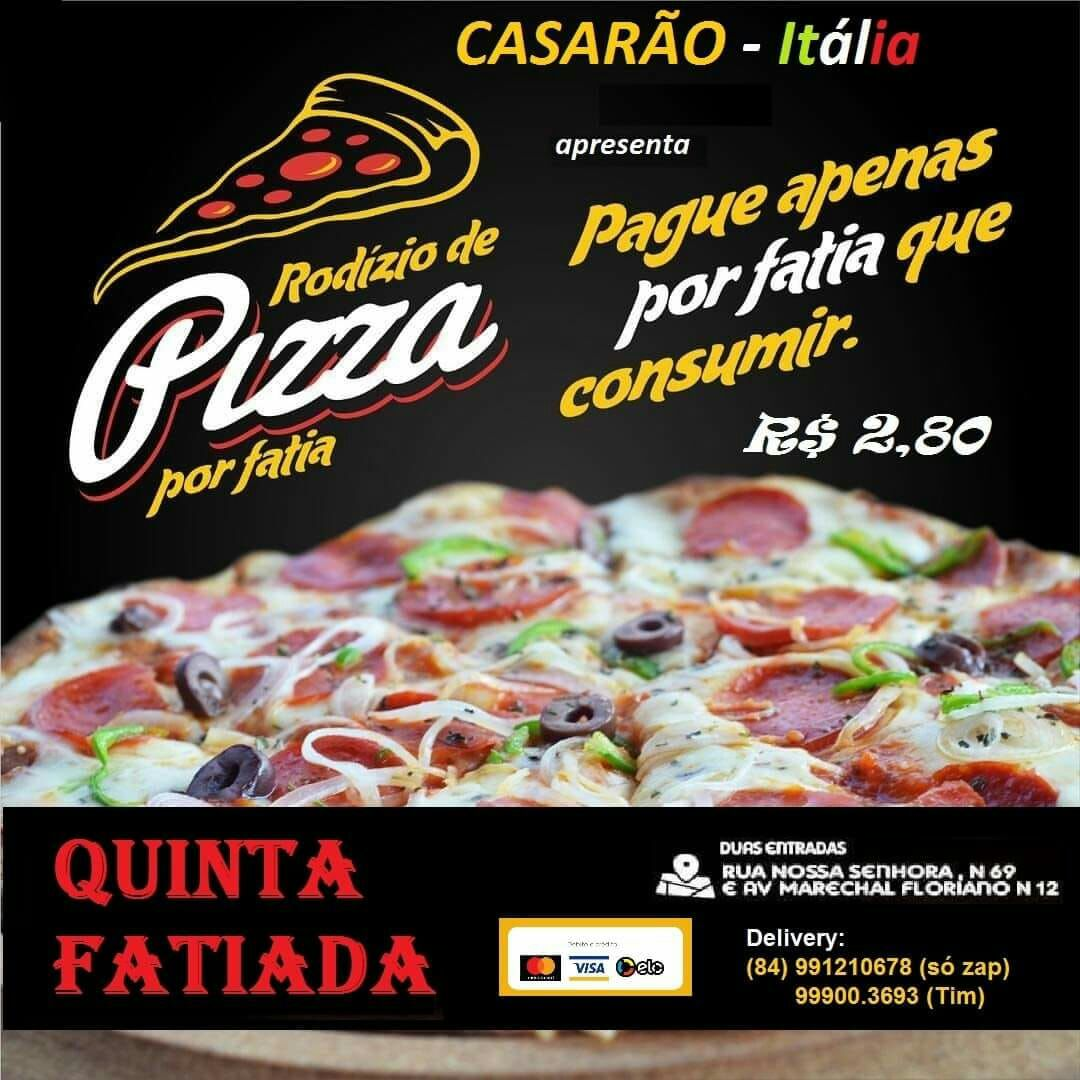 informe publicitário  Quinta fatiada no Casarão Itália em Apodi 61b771fe1cc