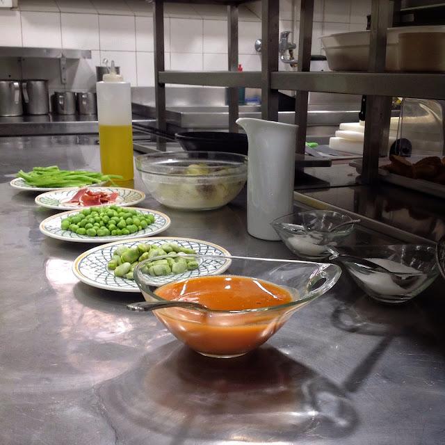 ingredientes de la menestra de verduras frescas de Navarra