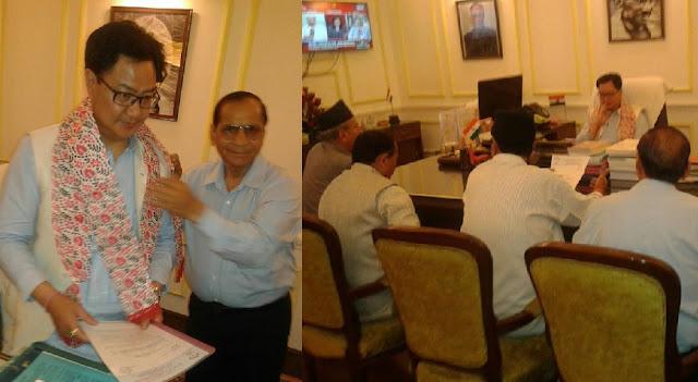 BGP delegation met Cabinet Minister Kiren Rijiju for separate state