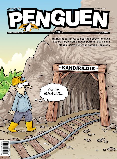 Penguen Dergisi - 18 Ağustos 2016 Kapak Karikatürü