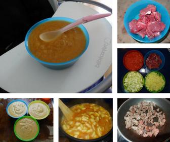 bolognesa, alimentación, bebé, infantil, receta, verduras, carne, salsa, puré
