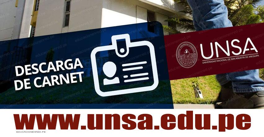 Descargar Carnet UNSA 2019-I Fase (Examen General 19 Agosto) CARNÉ - PÁGINA DEL POSTULANTE - Universidad Nacional de San Agustín Arequipa - www.unsa.edu.pe