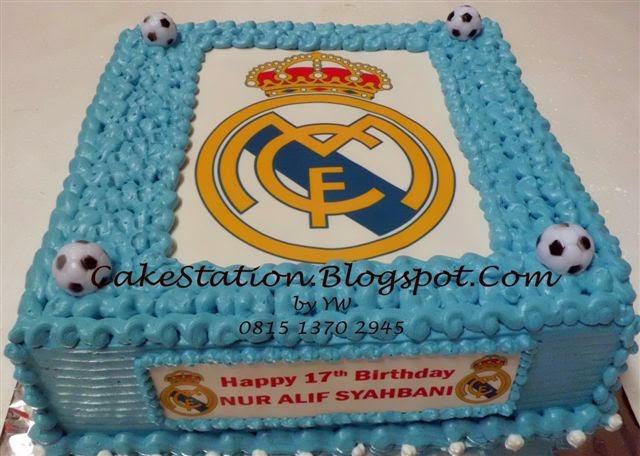 Cake Station Real Madrid Cake Untuk Nur Alif