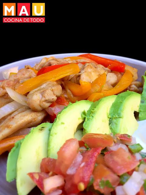 receta fajitas de pollo low carb de dieta