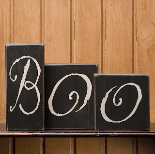 BOO bricks Halloween sign decoration from Shelley B Home and Holiday