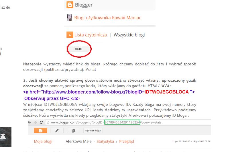 Sposób na obserwację bloga