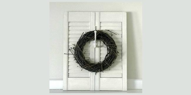 How to Make a Plantation Shutter Wreath Hook. Homeroad.net