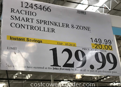 Deal for the Rachio Smart Sprinkler Controller at Costco