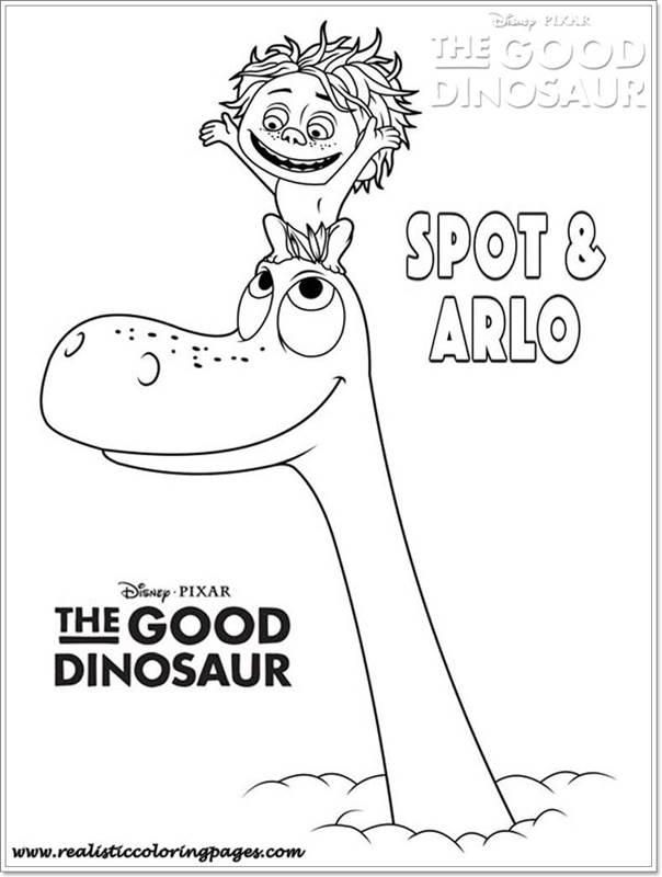 Spot And Arlo Good Dinosaur Coloring