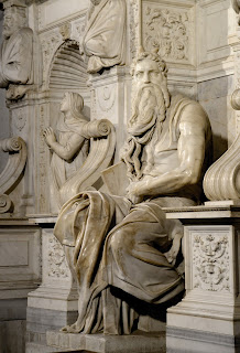 Michelangelo's Moses, part of the tomb of Pope Julius II