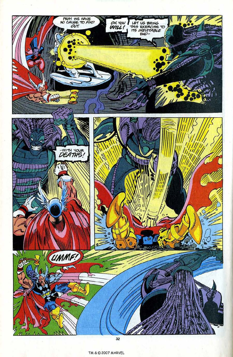 Read online Silver Surfer (1987) comic -  Issue #82 - 34