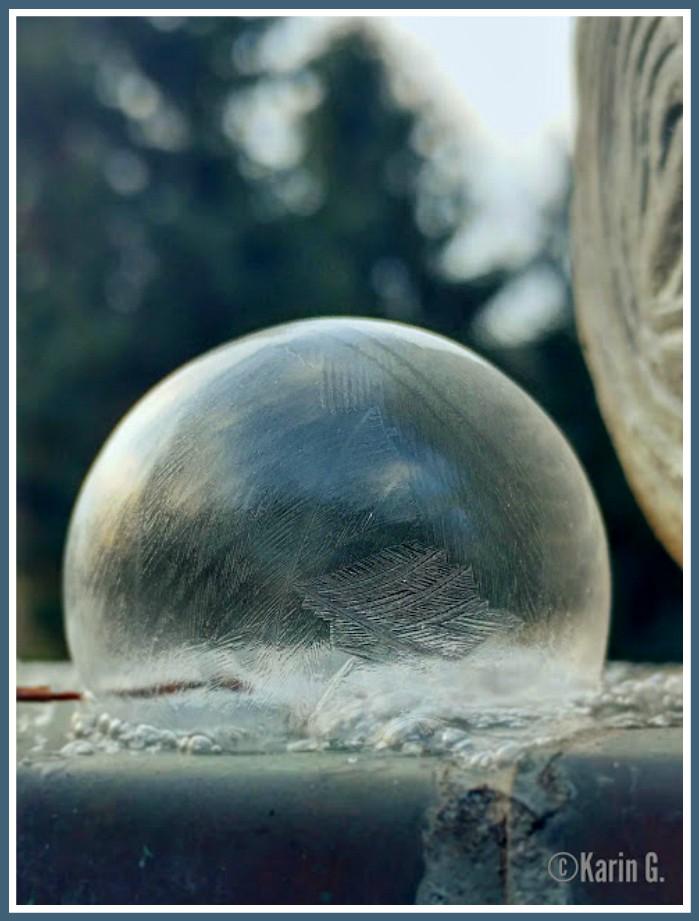 ich hab da mal was ausprobiert: Seifenblasen bei Frost
