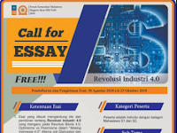 Lomba Esai Nasional Revolusi Industri 4.0 FORKOMSI FEB UGM 2018