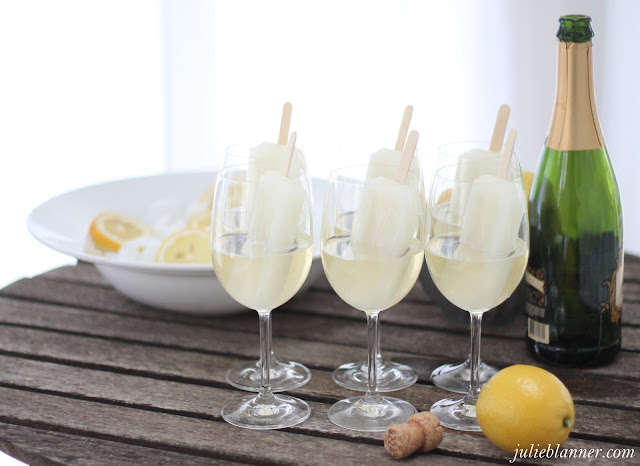 lifestyle blogger Julie Blanner shares her champagne popsicle party