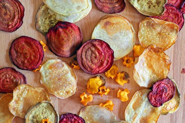ψητά τσιπς λαχανικών / baked vegetables chips