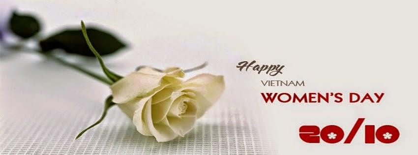 Ảnh bìa Facebook 20/10 đẹp và ý nghĩa tặng chị em phụ nữ