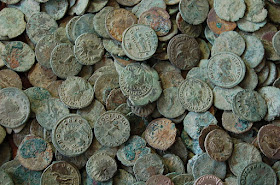 mayores tesoros de monedas romanas