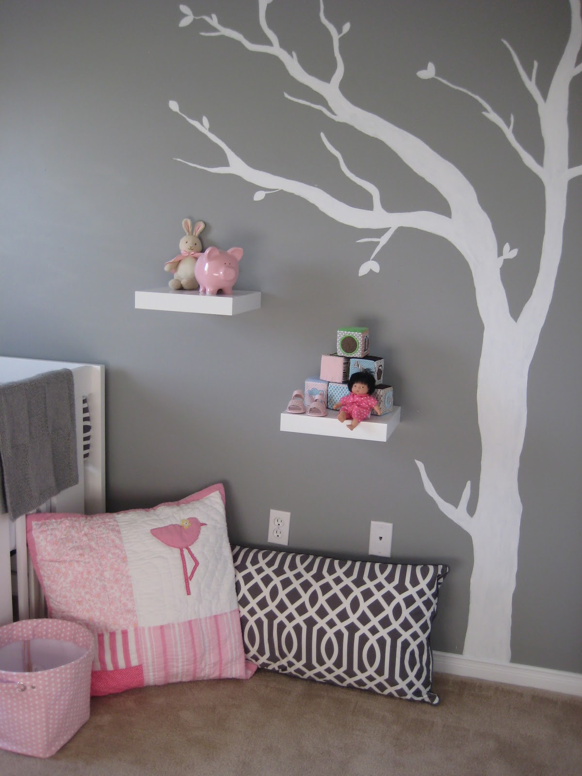 Grey And Pink Mod Gray And Pink Nursery Design Dazzle