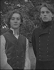 Гелърт Гриндълуолд и Албус Дъмбълдор в Хари Потър и даровете на смъртта