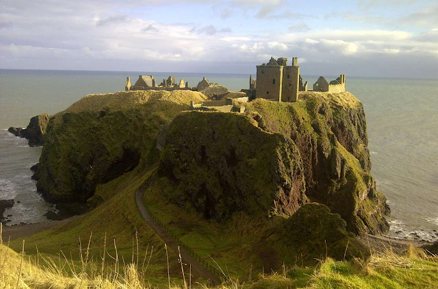 Warlocks' Castle, Stonehaven, Scotland