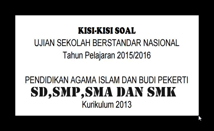 Smp Negeri 1 Kedokanbunder Download Kisi Kisi Usbn Pai Dan Budi Pekerti Lengkap Kurikulum 2013