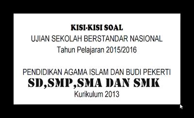 Download Kisi-Kisi USBN PAI dan Budi Pekerti Lengkap Kurikulum 2013