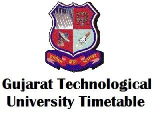 GTU Ahmedabad Time Table 2018 Pdf