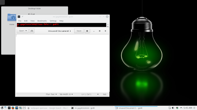 install text editor Part 1: Gedit di Linux OpenSuse