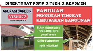 Panduan Pengisian Kerusakan Bangunan Versi Dapodik 2017
