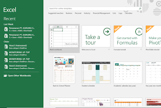 Gambar Excel Start Screen Microsoft Office Excel 2016