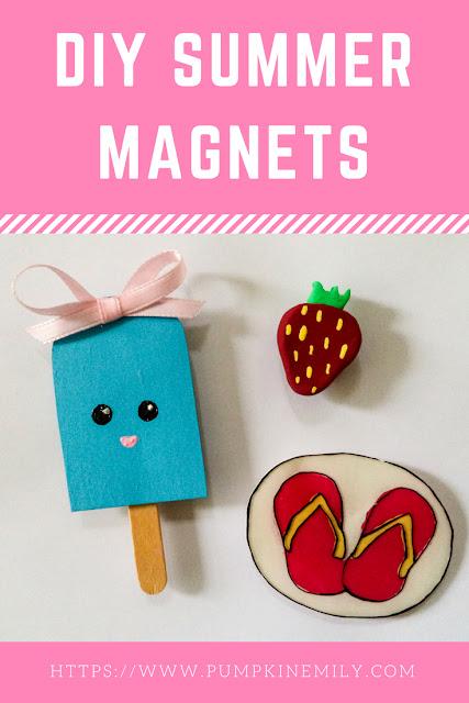 DIY Summer Magnets   How To Make Magnets For a Fridge