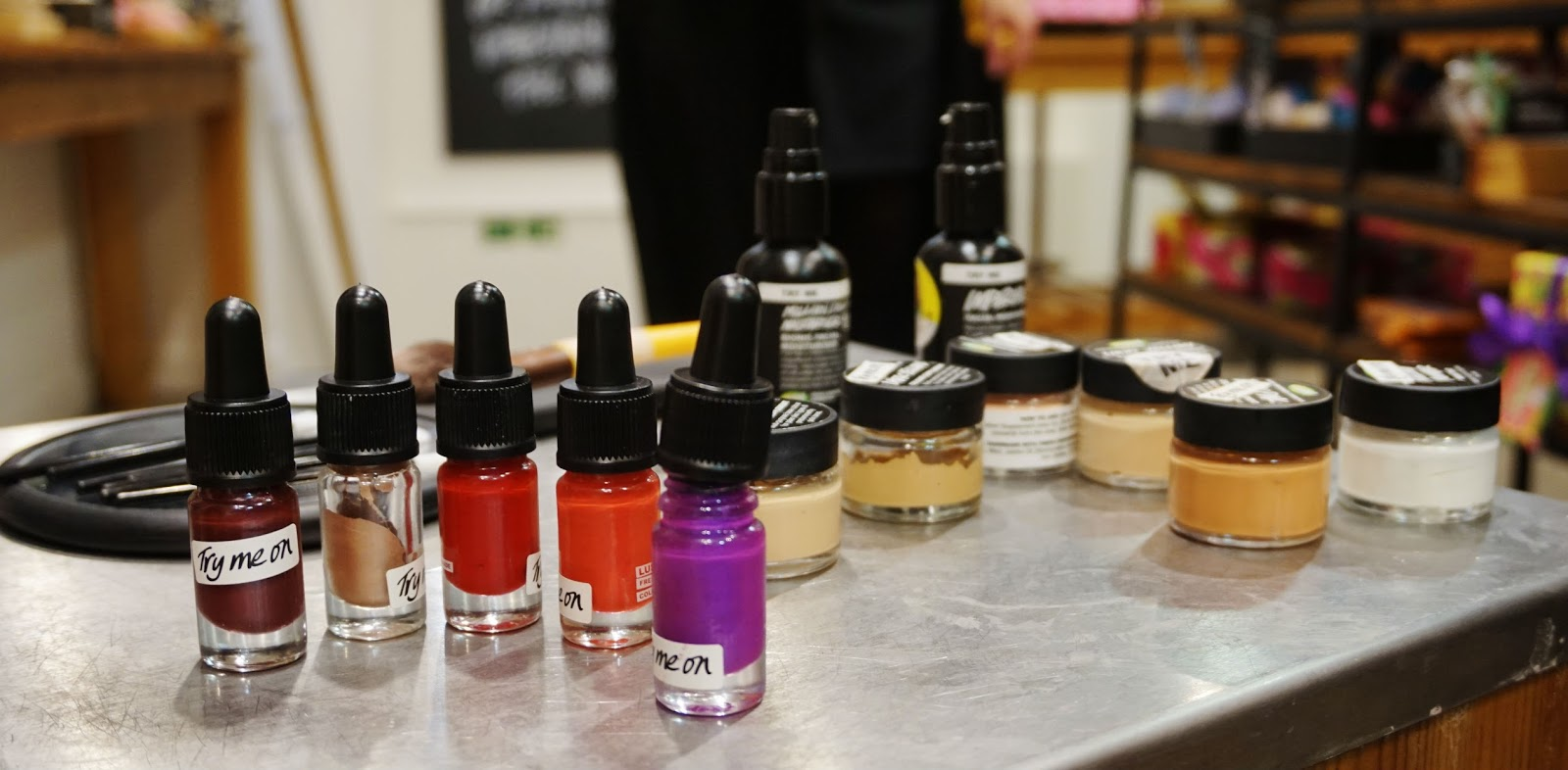 lush cosmetics spring product collection makeup range lip colours