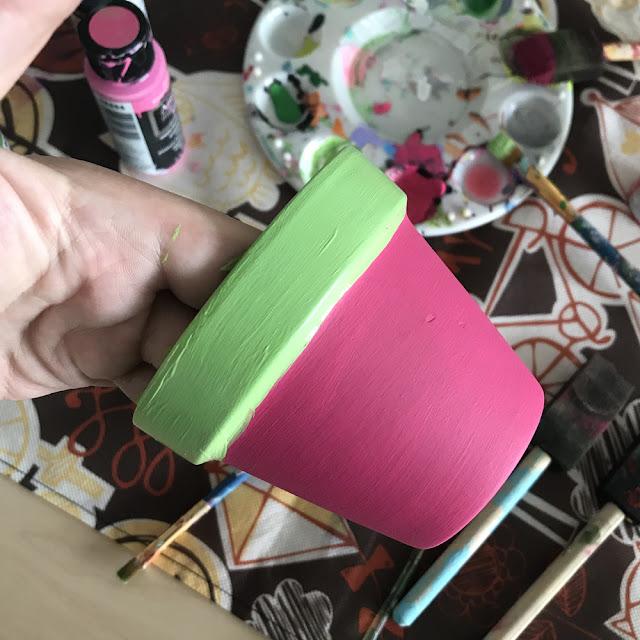 Watermelon Flower Pot Craft with artist Lady Lucas   Linzer Lane Blog