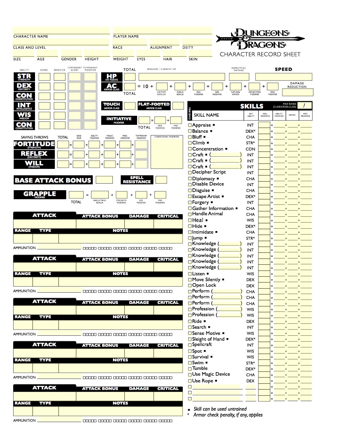 D&D 3.5 Spielerhandbuch Pdf