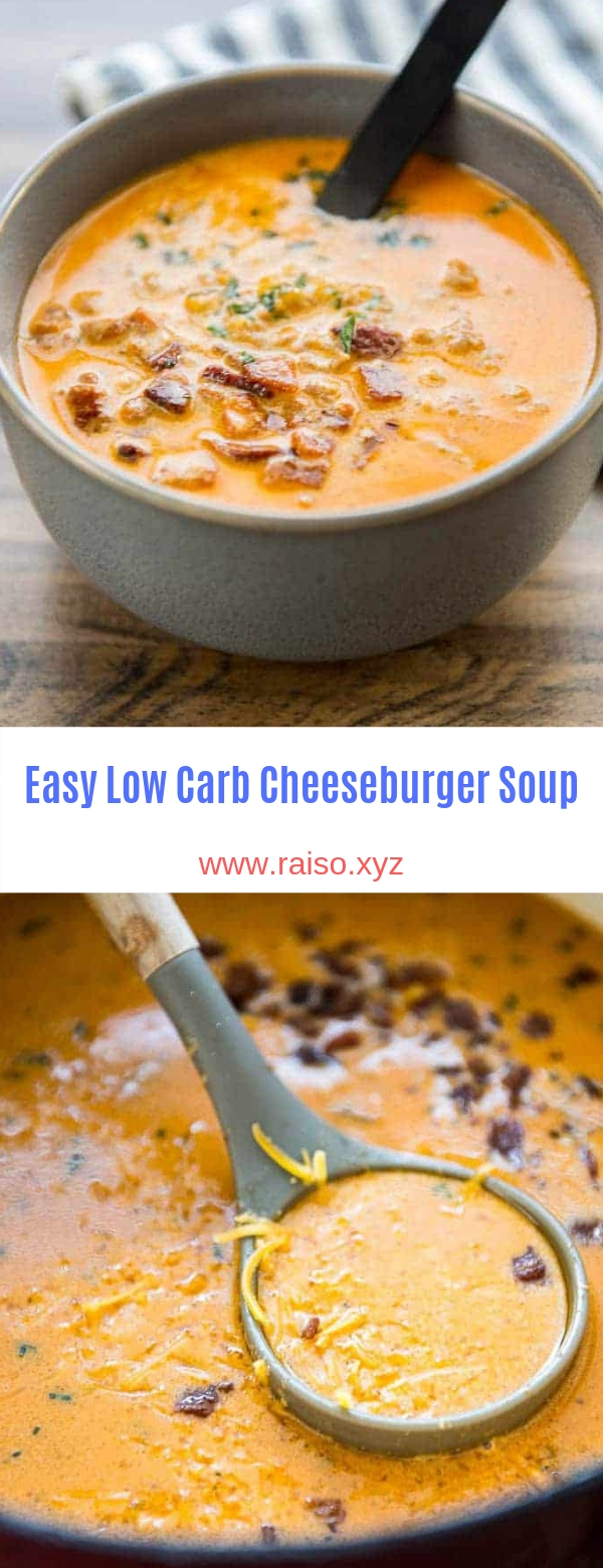 Easy Low Carb Cheeseburger Soup