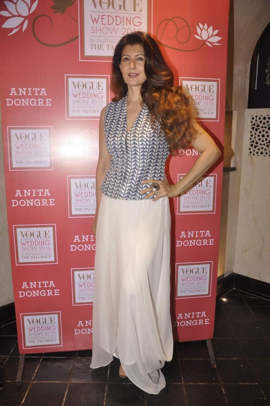 Mumbai Actress Sangeeta Bijlani Long Hair Photos At Vogue Wedding Show