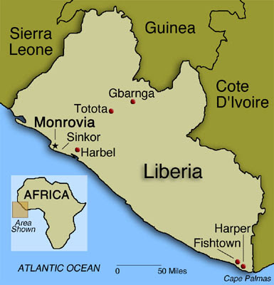 A look at the history of liberia a country on the west coast of africa