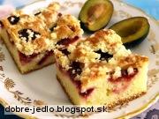 Slivkový koláč s posýpkou - recept