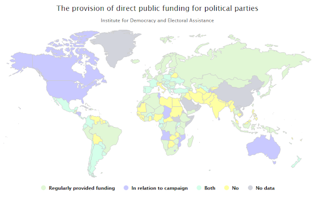 The Provision of Direct Public Funding for Political Parties