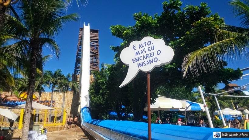 Toboágua Insano - Beach Park - parque aquático do Ceará